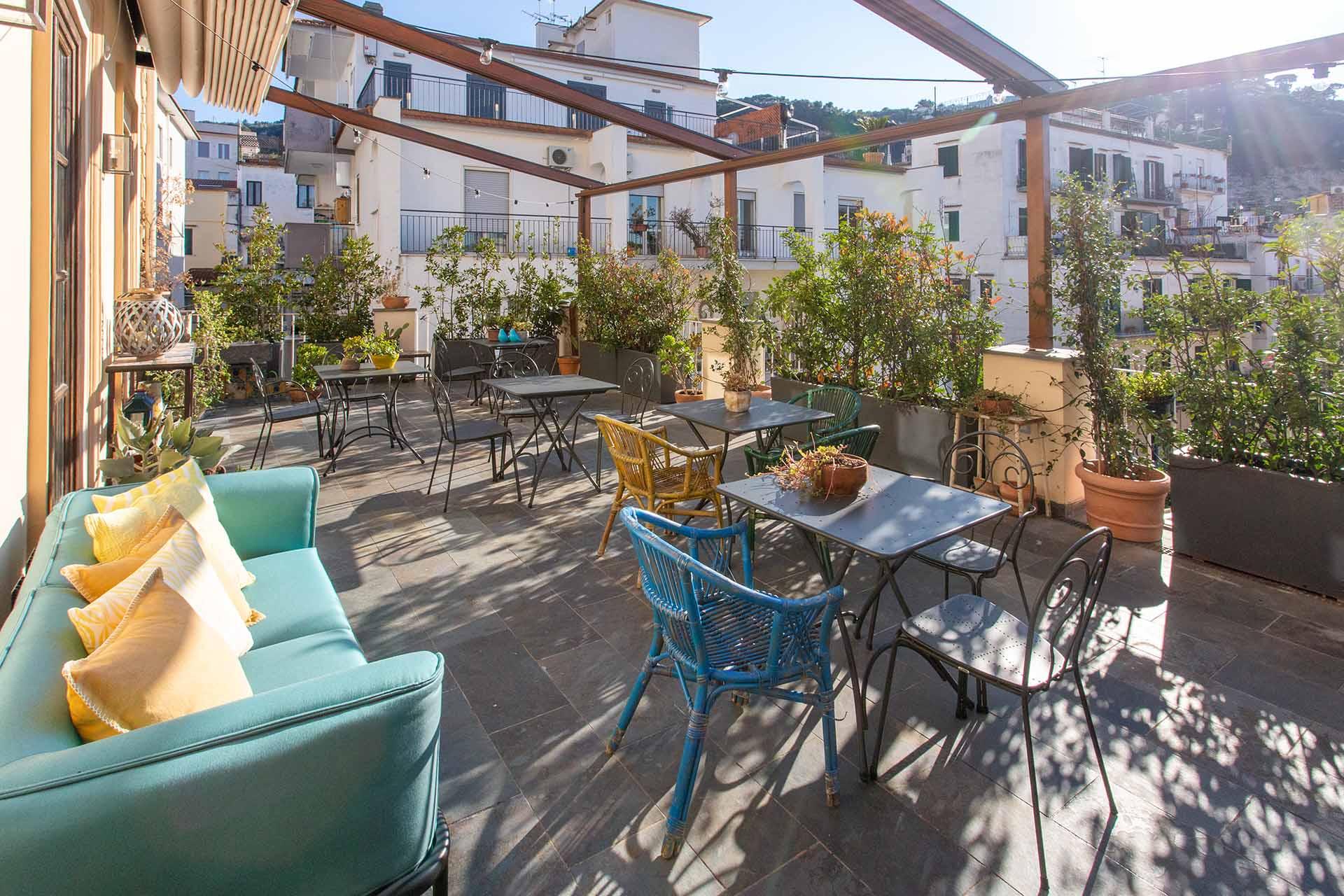 Accademia 39 terrace in Sorrento city center