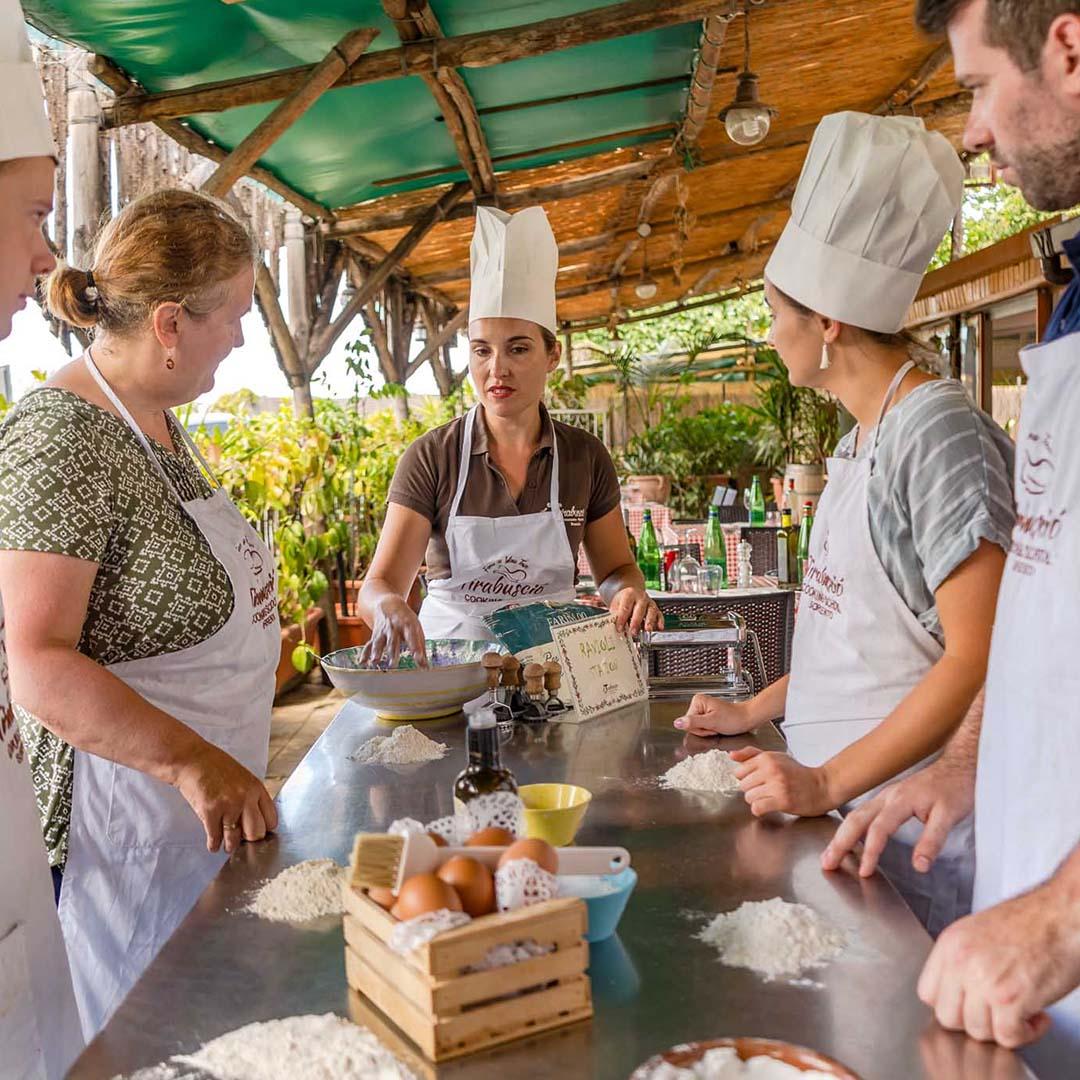 Scuola di cucina napoletana a Sorrento